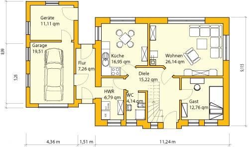 Grundriss einfamilienhaus mit garage  Einfamilienhaus Grundrisse Mit Garage ~ Innenraum und Möbel